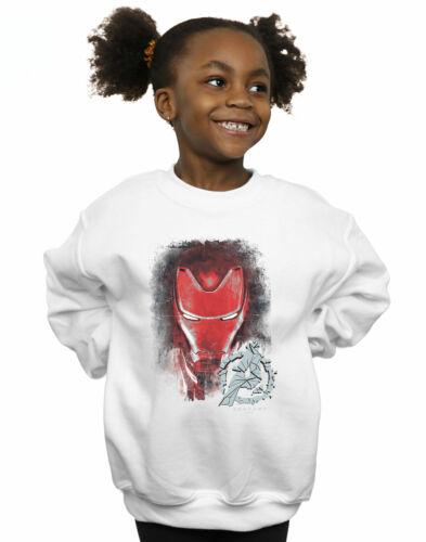 Marvel Girls Avengers Endgame Iron Man Brushed Sweatshirt