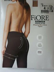 Super FiORE Press UP 60 DEN Body Care Shaping Microfibre Tights M5111 black tan