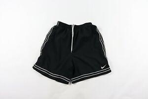 Nike-Mens-Small-Dri-Fit-Running-Jogging-Athletic-Soccer-Shorts-Black-Striped