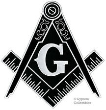 BLACK LARGE MASONIC EMBROIDERED PATCH iron-on FREEMASON SQUARE COMPASS MASON new