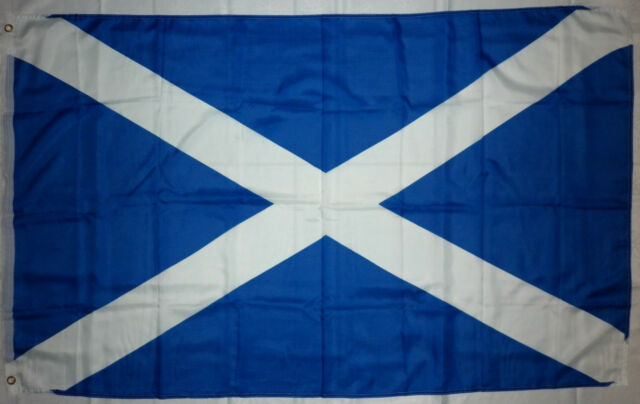 St ANDREW'S CROSS, SCOTLAND NATIONAL FLAG, 152.5cm X 91.5cm (5ft x 3ft)