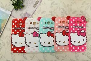 a4e7ff109 3D Hello Kitty Bow Soft Rubber Phone Case Cover For iPhone X XS SE 5 ...