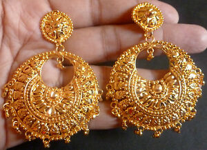 Image Is Loading 22k South Indian Bright Gold Plated Nice Bali