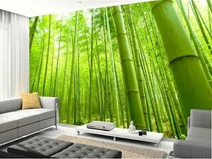 3d bamboo natural forest full wall mural photo wallpaper for Ebay 3d wallpaper