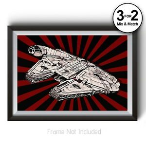 faucon millenium poster han solo star wars alliance rebelle wall art print ebay. Black Bedroom Furniture Sets. Home Design Ideas