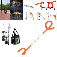Portable Lamp Hanger Camping Lantern 2-way Post Hook Fishing Aid Tent Pole LT