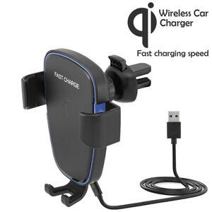 Qi-Wireless-Lueftung-Autohalterung-Handy-KFZ-Halter-Smartphone-iPhone-Samsung-S9