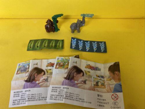 Komplettsatz Affe Elefant VV085 VV086 mit allen BPZ aus China