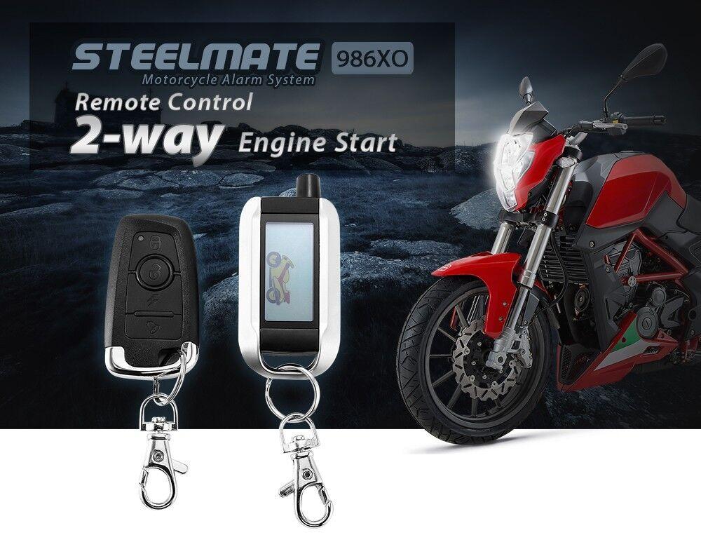 Funkfernbedienung Roller Moped 2-Wege LCD Motorrad Alarmanlage Anti-Diebstahl