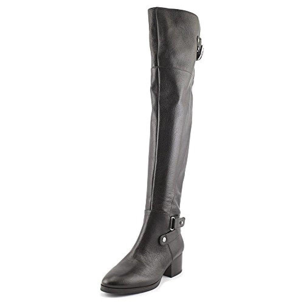 New Nine West Women's Celio Celio Celio Knee-High Boot Black Leather sz 5 fe2b54