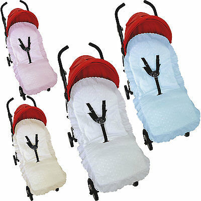 2019 Moda Babystyle Bellissimo Frilly Sangallo Anglaise Sedile Fodera Copertura Buggy Puschair- Avere Uno Stile Nazionale Unico