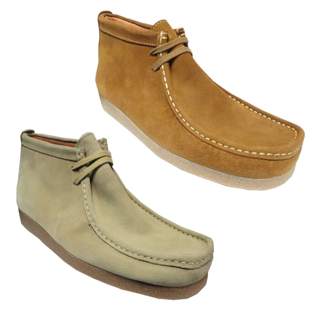 Mens Delicious Junction Wallabee Thick Crepe Suede Chukka Boots