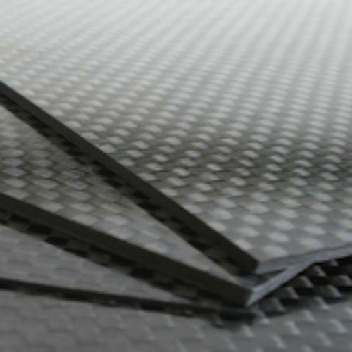 Plancha de fibra de carbono 100% Plain 3k 300x200x3mm Acabado gloss a 2 caras