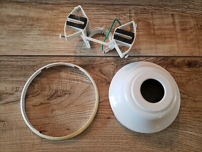 Ceiling Fan Replacement Parts White 5 3 4 Canopy Round Ball Mounting Bracket Ebay
