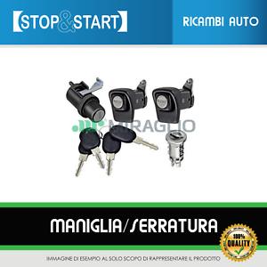 COFANO 4 CHIAVI FIAT PANDA 85//104 KIT SERRATURE PORTE DX SX CILINDRETTO