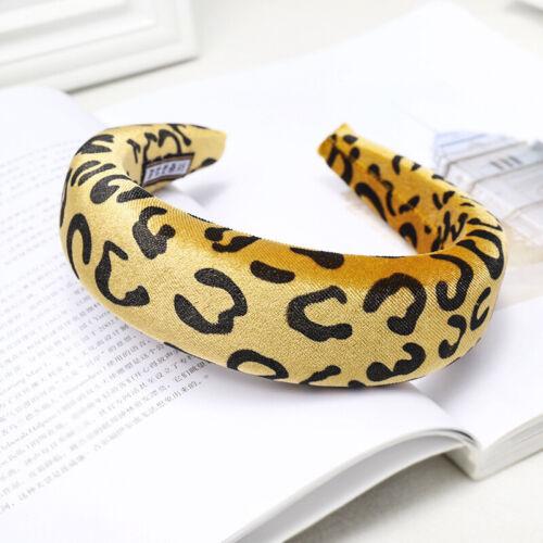 Women/'s Leopard Sponge Dot Padded Headband Hairband Hair Band Hoop Accessories