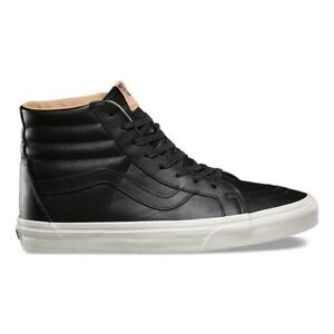 444918913511d0 Image is loading VANS-SK8-HI-REISSUE-LUX-LEATHER-BLACK-PORCINI-