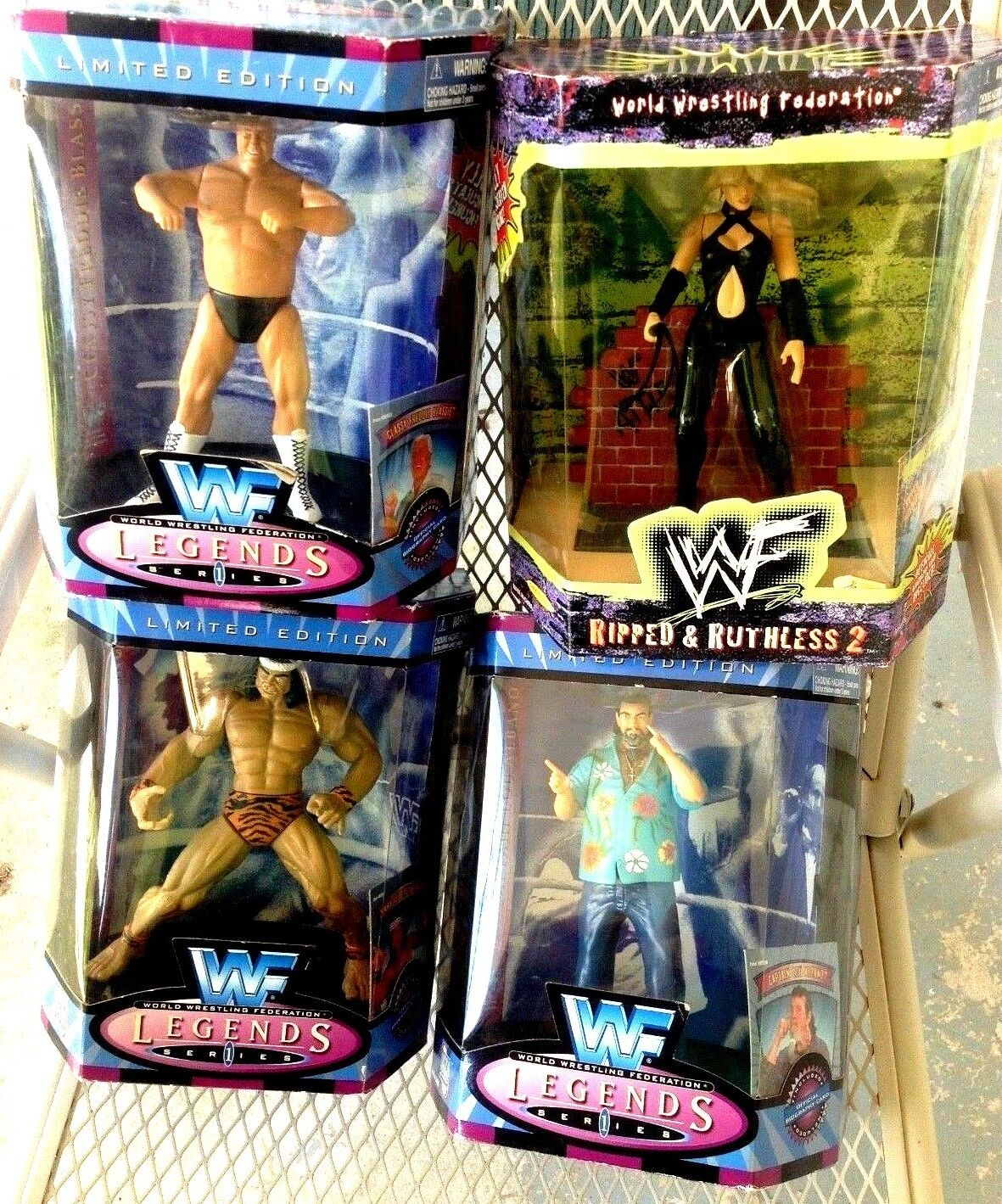 4 Jakks 1997 Wrestling WWF Legend Series 1 Snuka Captain Lou Sable Figure + Free