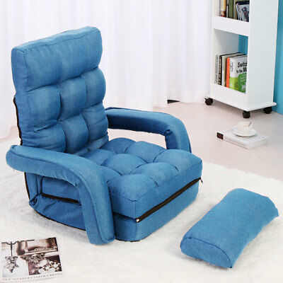 Amazing Adjustable Folding Lazy Sofa Floor Chair Sofa Lounger Bed W Armrests Pillow 613852754221 Ebay Caraccident5 Cool Chair Designs And Ideas Caraccident5Info
