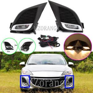 LH-RH-For-Mazda-3-BL-Front-Bumper-Fog-Light-Lamp-W-Wiring-Harness-Kit-2009-2013