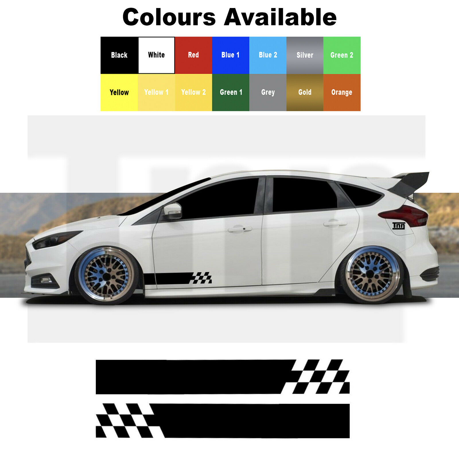 Details about side stripe graphics ford focus fiesta escort st rs car decals stickers vinyl