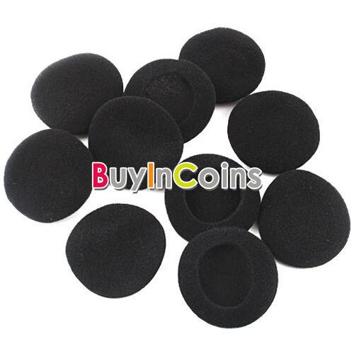 4 Pairs Mini Soft Ear Pad Foam Earbud Cover Headphone 50MM Color Black