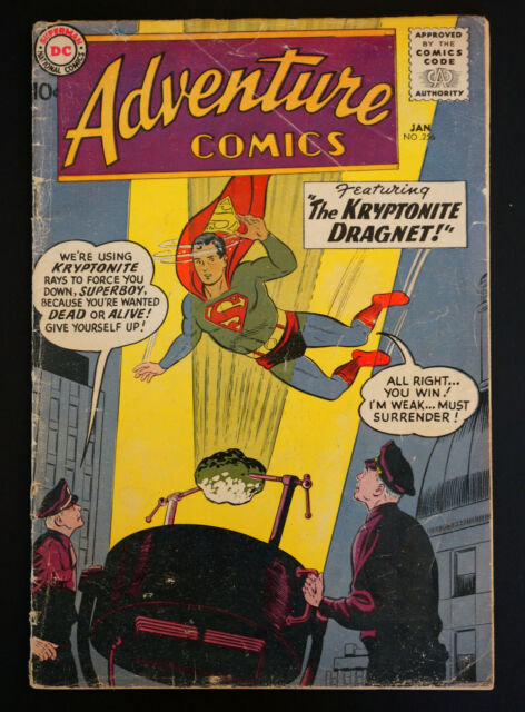ADVENTURE COMICS #256 1959-SUPERBOY-ORIGIN of GREEN ARROW G/VG