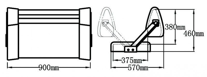 184190-9002, Doppelsitzbank