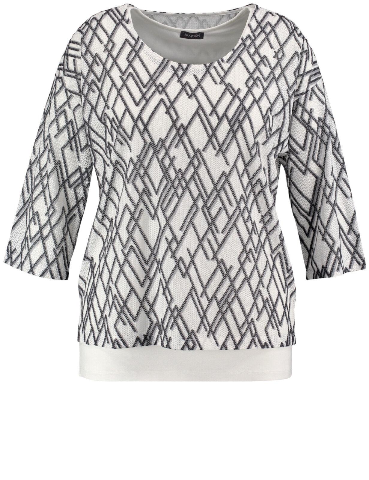 Samoon Two-In-One Shirt by Gerry Weber doppellagig Neu 3 4 Arm Damen Gr.