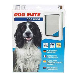 Rabat de porte pour chien Mate Pet Chiens et chats Medium Blanc 215 215w Taille 26 X 22cm
