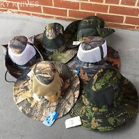 6 Lot Assorted Australian Outback Safari Bucket Flap W/mesh Boonie Hat Ht-851-6