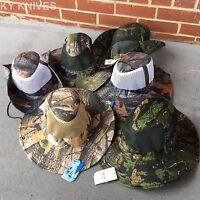 6 Lot Assorted Australian Outback Safari Bucket Flap W/mesh Boonie Hat Ht-851-6