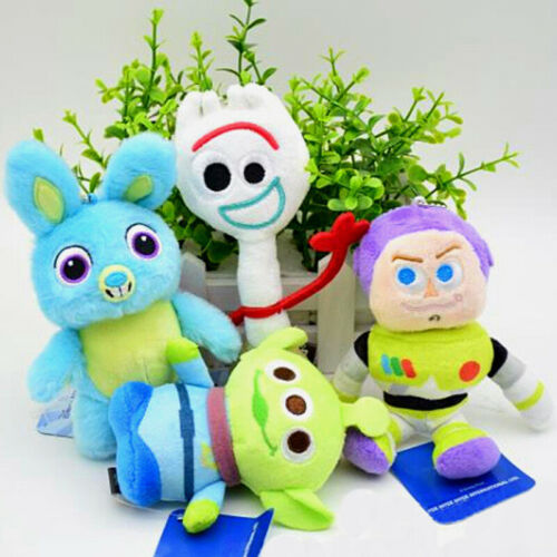 Toy Story 4 Plush Figure Toy Forky Buzz Aliens Bunny Soft Stuffed Doll Kids Gift