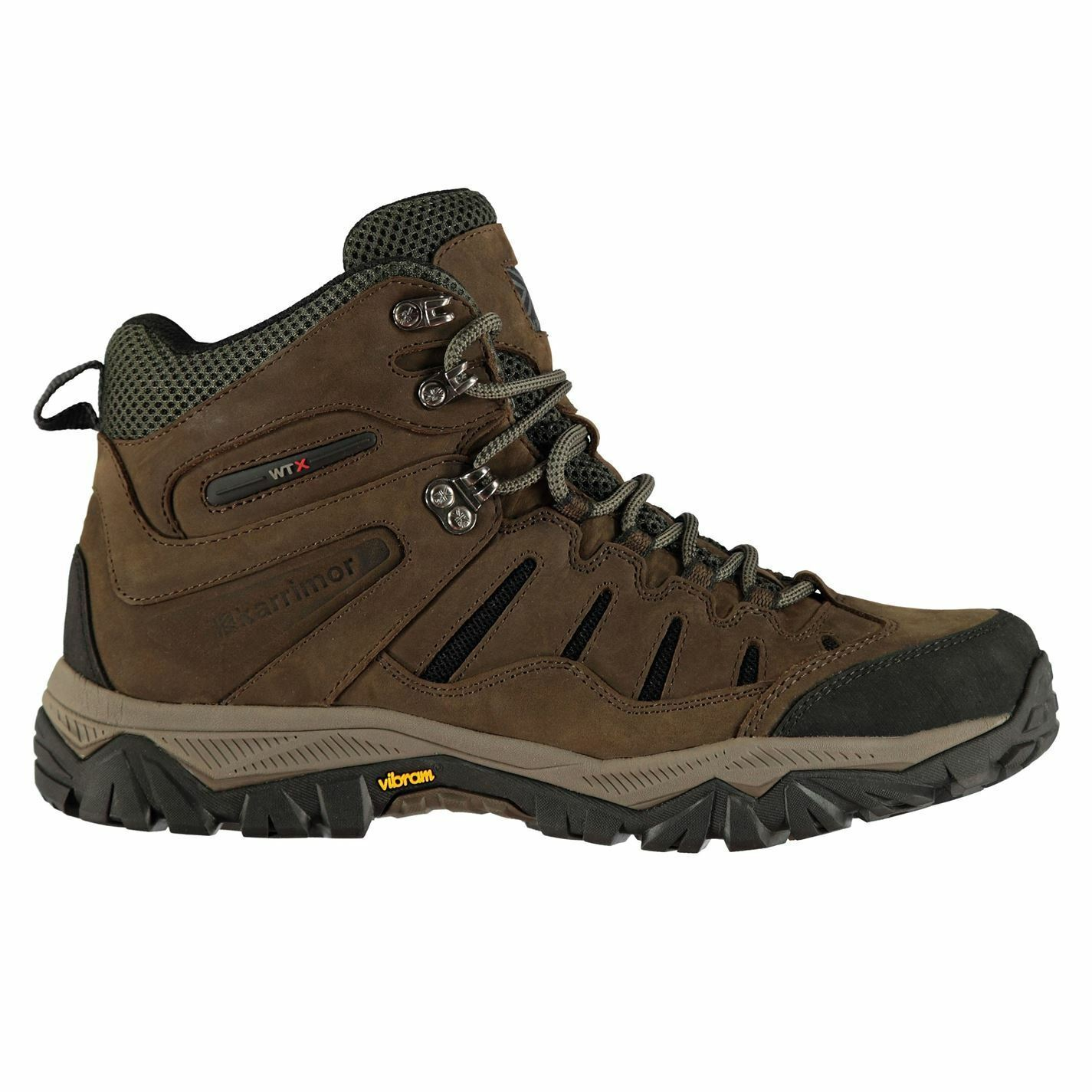 Karrimor Panther WTX Waterproof Mid Walking botas Mens marrón Hiking zapatos