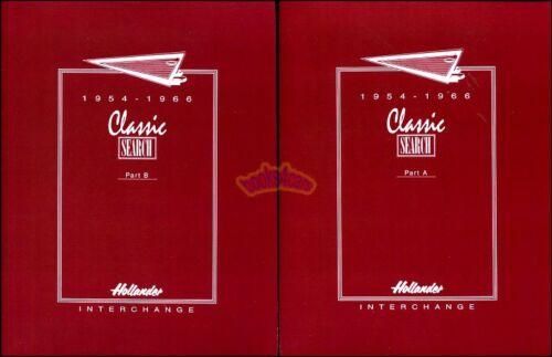 HOLLANDER INTERCHANGE PARTS MANUAL HOLANDER BOOK 1954-1966 CATALOGUE