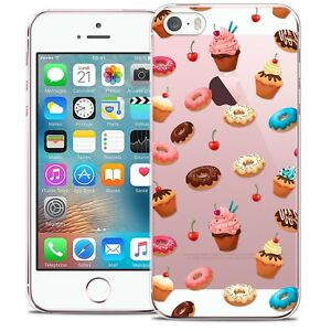 Coque-Crystal-Pour-iPhone-5-5s-SE-Extra-Fine-Rigide-Foodie-Donuts
