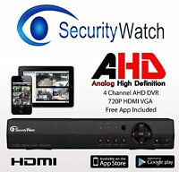 Cctv 720 4 Channel Dvr Recorder Ahd Hdmi Cloud Choice Of Hard Drive 320gb 2tb