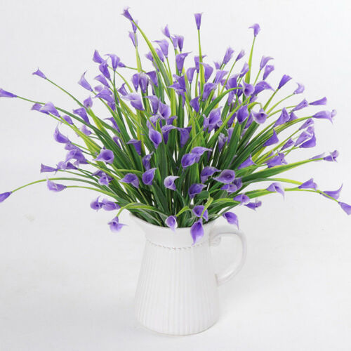 Plastic Outdoor Artificial Flowers Fake False Plants Grass Garden Lily Tulip BIG