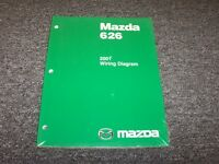 2001 Mazda 626 Sedan Electrical Wiring Diagram Manual Book Es Lx 2.0l 2.5l V6