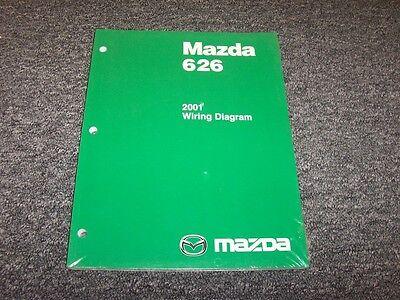 2001 Mazda 626 Sedan Electrical Wiring Diagram Manual Book ...