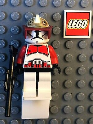 Authentic LEGO Star Wars Commander Fox Minifigure sw202 7681 Clone Trooper