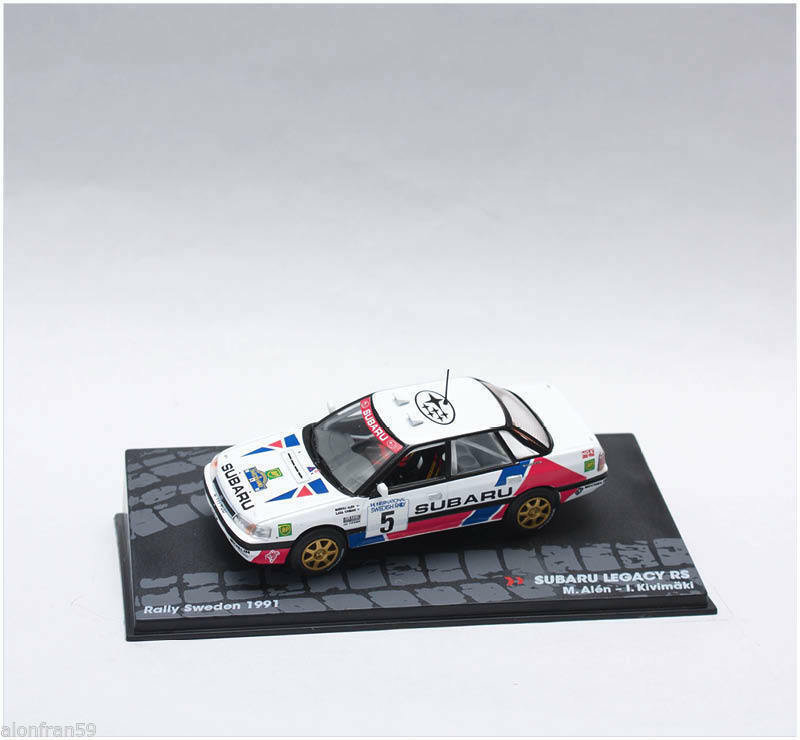 Rally IXO Diecast 1 43 Subaru Legacy 4WD Turbo gra - Allen kivimäki 1991 eRAL039