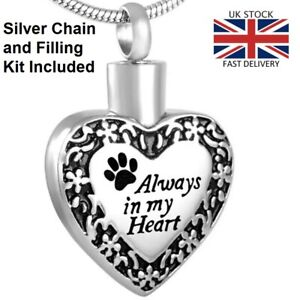 Always-Heart-Dog-Cat-Cremation-Ashes-Necklace-Memorial-Jewellery-Pet-Urn-Pendant