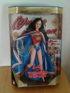 Mattel-Barbie-as-Wonder-Woman-Doll-1999-Collector-Edition-New-in-Box-24638