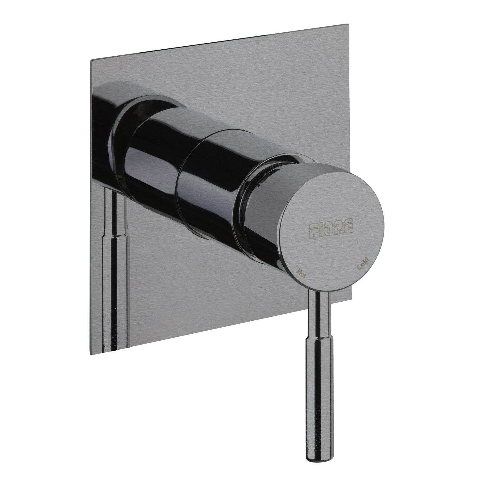 Miscelatore doccia a incasso design contemporaneo in acciaio inox