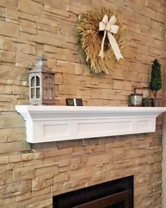 Superb Details About Fireplace Mantel Painted Finish Contemporary Cottage Ledge Shelf Bayside Style Interior Design Ideas Tzicisoteloinfo