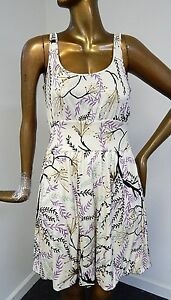 M-Missoni-sz-4-100-Silk-Floral-Sleeveless-Dress-Italy