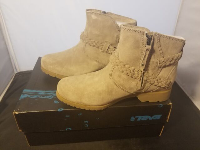7836acd0824734 NIB Size 6 US Teva Womens Delavina Suede Ankle Boots Desert Taupe Colorway  NEW