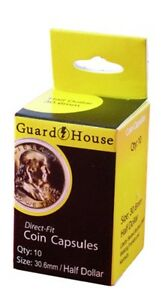 Coins & Paper Money Guardhouse Half Dollar 30.6mm Direct Fit Coin Capsules 10 Pack Refreshment