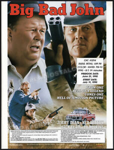 BIG BAD JOHN__Orig. 1990 Trade print AD/ ADVERT__Jimmy Dean_Ned Beatty_Jack Elam
